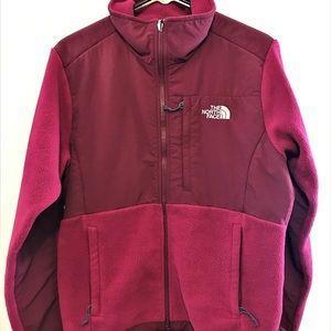 Maroon-Dark Pink North Face Fleece